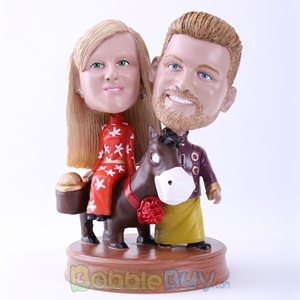 Picture of Bride and Groom in Chinese Wedding Bobblehead