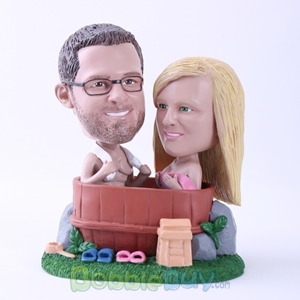 Picture of Couple Bathing Together Bobblehead