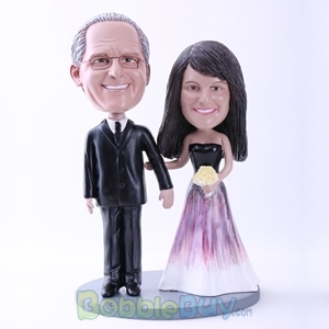 Picture of Graceful Bride and Groom Bobblehead