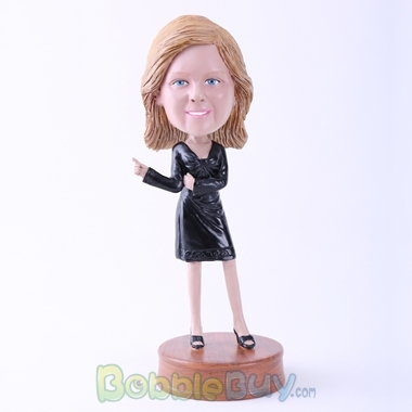 Picture of Black Dress Lady Bobblehead