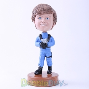 Picture of Blue Uniform Man with Gun Bobblehead