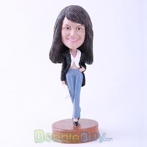 Picture of Fashion Woman Walking Posture Bobblehead