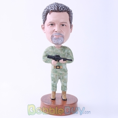 Picture of Cool Marines Holding Gun Bobblehead