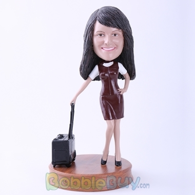 Picture of Flight Attendant with Case Bobblehead