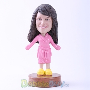 Picture of Girl with Bathrobes Bobblehead