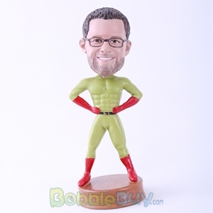 Picture of Green Skin Superman Bobblehead