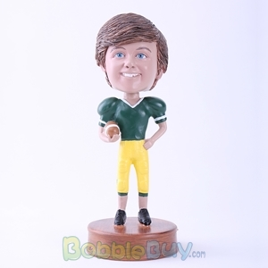 Picture of Happy Football Player Bobblehead