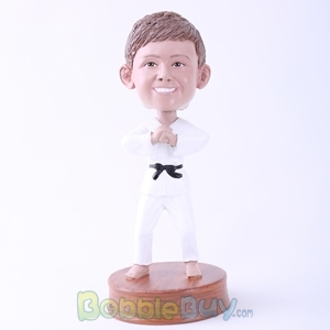 Picture of Karate Man Hand up Hand Bobblehead