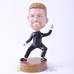 Picture of Kungfu Fighting Posture Man Bobblehead