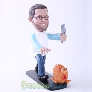 Picture of Man Killing Turkey Bobblehead