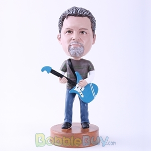 Picture of Man Playing Guitar Bobblehead