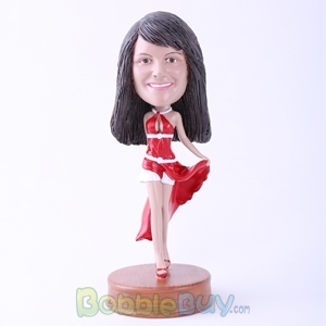 Picture of Red Dressed Hot Lady Bobblehead