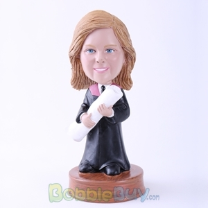 Picture of Woman Graduation Bobblehead