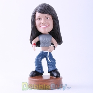 Picture of Woman Ready to Wrestle Bobblehead
