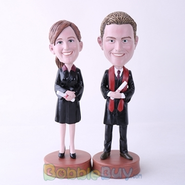 Picture of Couple Graduate Bobblehead
