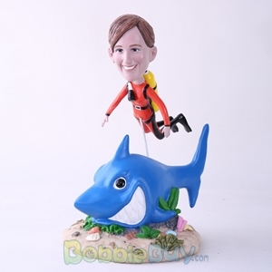 Picture of Scuba Diving Woman Bobblehead