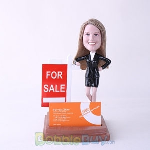 Picture of Female Property Agent Bobblehead