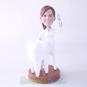 Picture of Female Dentist with Big Tooth Bobblehead