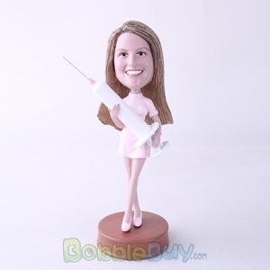Picture of Nurse Holding Syringe Bobblehead
