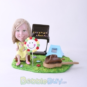 Picture of BBQ Theme Girl Bobblehead
