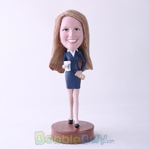 Picture of Office Woman Holding Coffee Bobblehead