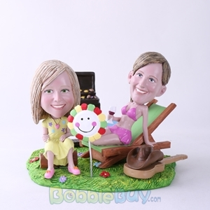Picture of BBQ Theme Mother & Daughter Bobblehead