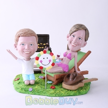 Picture of BBQ Theme Mother & Son Bobblehead