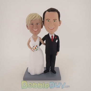 Picture of Arm Behind Each Other Wedding Couple Bobblehead