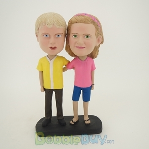Picture of Arm Behind Each Other Young Couple Bobblehead
