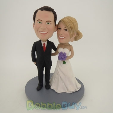 Picture of Arms Around Each Other Wedding Couple  Bobblehead