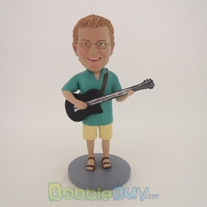Picture of Acoustic Guitar Player Male Bobblehead