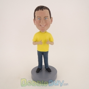 Picture of Big Boy Thumbs Up Happily Bobblehead