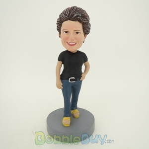 Picture of Black Short Sleeve Woman Bobblehead