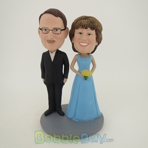 Picture of Black Suit Man And Bride Bobblehead