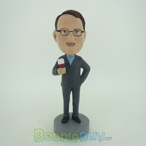 Picture of Business Man Enjoying Beer Bobblehead