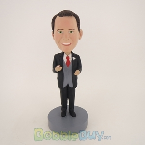Picture of Business Man Having Cigar Bobblehead