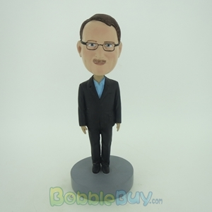 Picture of Business Man In Black Stand Still Bobblehead