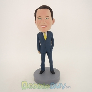 Picture of Business Man In Blue Suit Bobblehead