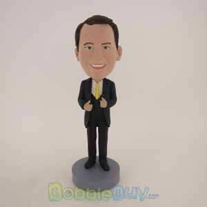Picture of Business Man In Nice Suit And Yellow Tie Bobblehead
