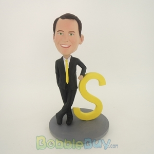 Picture of Black Suit Man Rely On S Bobblehead
