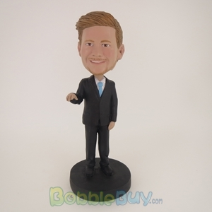 Picture of Business Man In Pure Black Bobblehead