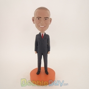 Picture of Business Man In Suit With Tie Bobblehead