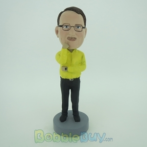 Picture of Business Man In Thinking Style Bobblehead