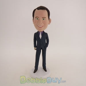 Picture of Business Man In Very Formal Suit Bobblehead