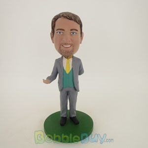 Picture of Business Man Inviting Bobblehead
