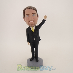 Picture of Business Man Waving Bobblehead