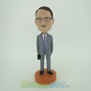 Picture of Business Man With A Case In Hand Bobblehead