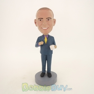 Picture of Business Man With A Coffee Cup Bobblehead