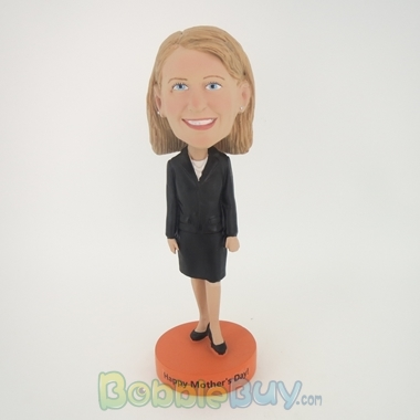 Picture of Black Suit Girl Bobblehead