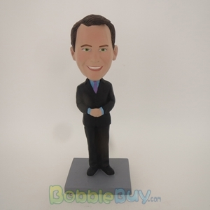 Picture of Business Man With Hands Closed Bobblehead